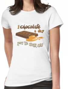 Chocolate - 1 chocolate a day... Womens Fitted T-Shirt