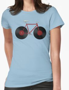 Record Fixie Womens Fitted T-Shirt