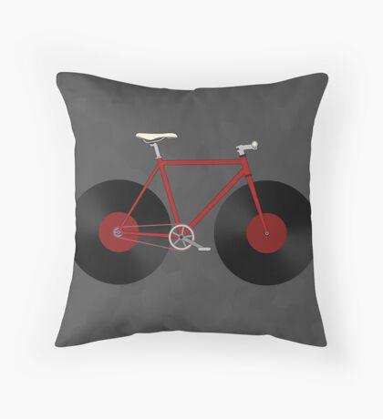 Record Fixie Throw Pillow