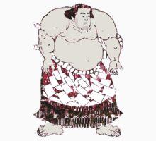Rikishi Japanese Sumo in Red Shibori Wrestler Wrestling Sports Kids Tee
