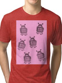 Pink Robots Tri-blend T-Shirt