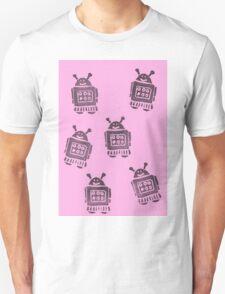 Pink Robots Unisex T-Shirt