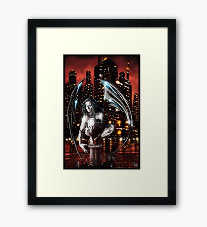 Robot Angel Painting 013 Framed Print