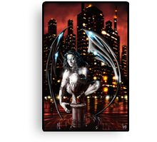 Robot Angel Painting 013 Canvas Print
