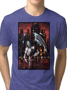 Robot Angel Painting 013 Tri-blend T-Shirt