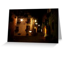 Old Town Alsace Greeting Card