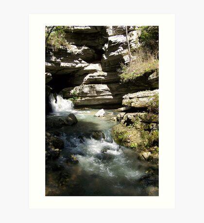Blanchard Springs the Waterfall Art Print