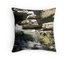 Blanchard Springs the Waterfall Throw Pillow
