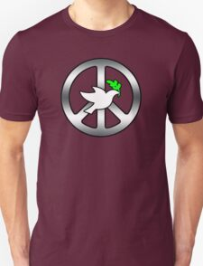 Peace Sign (With dove of Peace) Unisex T-Shirt