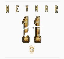 Neymar Gold Design Kids Tee