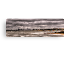 Grey Melbourne Day Panorama Canvas Print