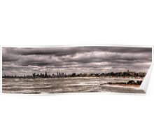 Grey Melbourne Day Panorama Poster