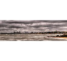 Grey Melbourne Day Panorama Photographic Print
