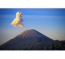 Smoke Outburst, Mt Bromo Volcano, Indonesia  Photographic Print