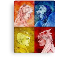 Kings and Queens of Westeros Canvas Print