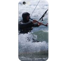 Kitesurfing in the Ocean - Coming Back to Shore iPhone Case/Skin