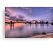 Secret Beach - Moods Of A City - The HDR Experience Canvas Print