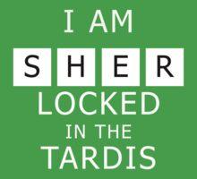 Sherlocked in the Tardis Slate Kids Tee