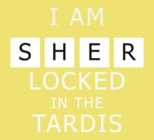 Sherlocked in the Tardis Slate Kids Clothes