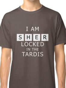 Sherlocked in the Tardis Slate Classic T-Shirt