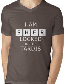 Sherlocked in the Tardis Slate Mens V-Neck T-Shirt