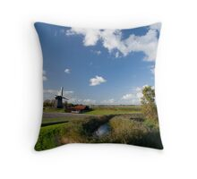 Three mills in a row Throw Pillow