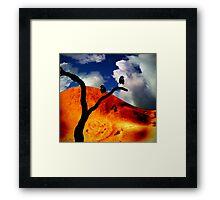 The cold shoulder Framed Print
