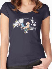 Powerpuff fighter II Women's Fitted Scoop T-Shirt