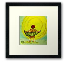 Toweling at the Moon Framed Print