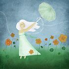 Dancing with Nasturtiums by Choumie