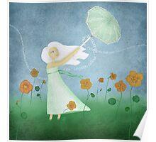 Dancing with Nasturtiums Poster