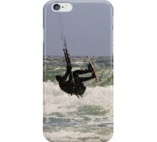 Kitesurfing in the Ocean - Going Airborne iPhone Case/Skin