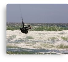 Kitesurfing in the Ocean - Going Airborne Canvas Print