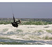 Kitesurfing in the Ocean - Going Airborne Photographic Print