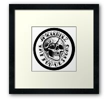 jmelendez tattoo designs skull logo Framed Print