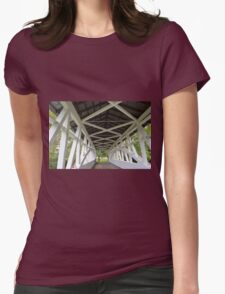 Lonely in the Covered Bridge Womens Fitted T-Shirt