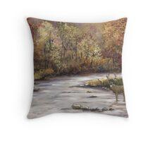 Fall Whitetail Deer Throw Pillow