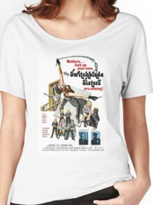 Switchblade Sisters Alt 2 (Blue) Women's Relaxed Fit T-Shirt