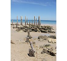 Was Once a Pier at Aldinga Beach Photographic Print