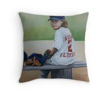 Time on the Bench Throw Pillow