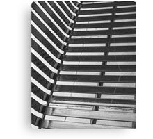 Linear Funtions or Straight curves in Balck & white Canvas Print