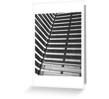 Linear Funtions or Straight curves in Balck & white Greeting Card