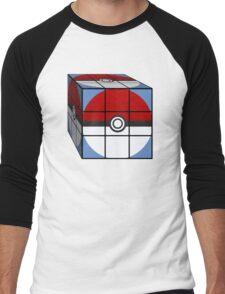 Poke Ball Rubik's Cube Men's Baseball ¾ T-Shirt