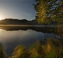 Sun rise on Rydal Water by eddiej