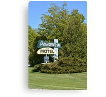 The Patio DRIVE-IN and MOTEL Canvas Print