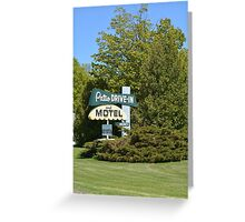 The Patio DRIVE-IN and MOTEL Greeting Card