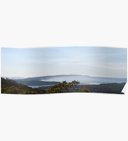 View from Monkey Rock on a hazy morning Poster