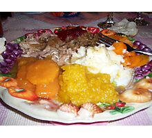 Thanksgiving Feast Photographic Print