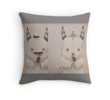Ack and Ug Throw Pillow