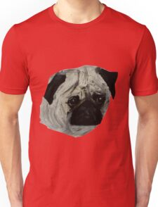 Pug Dog Fine Art Contemporary Acrylic Painting Unisex T-Shirt
